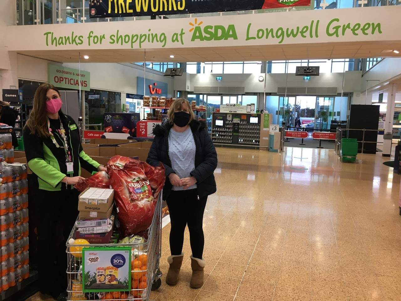 Half-term donation for Juice community project | Asda Longwell Green
