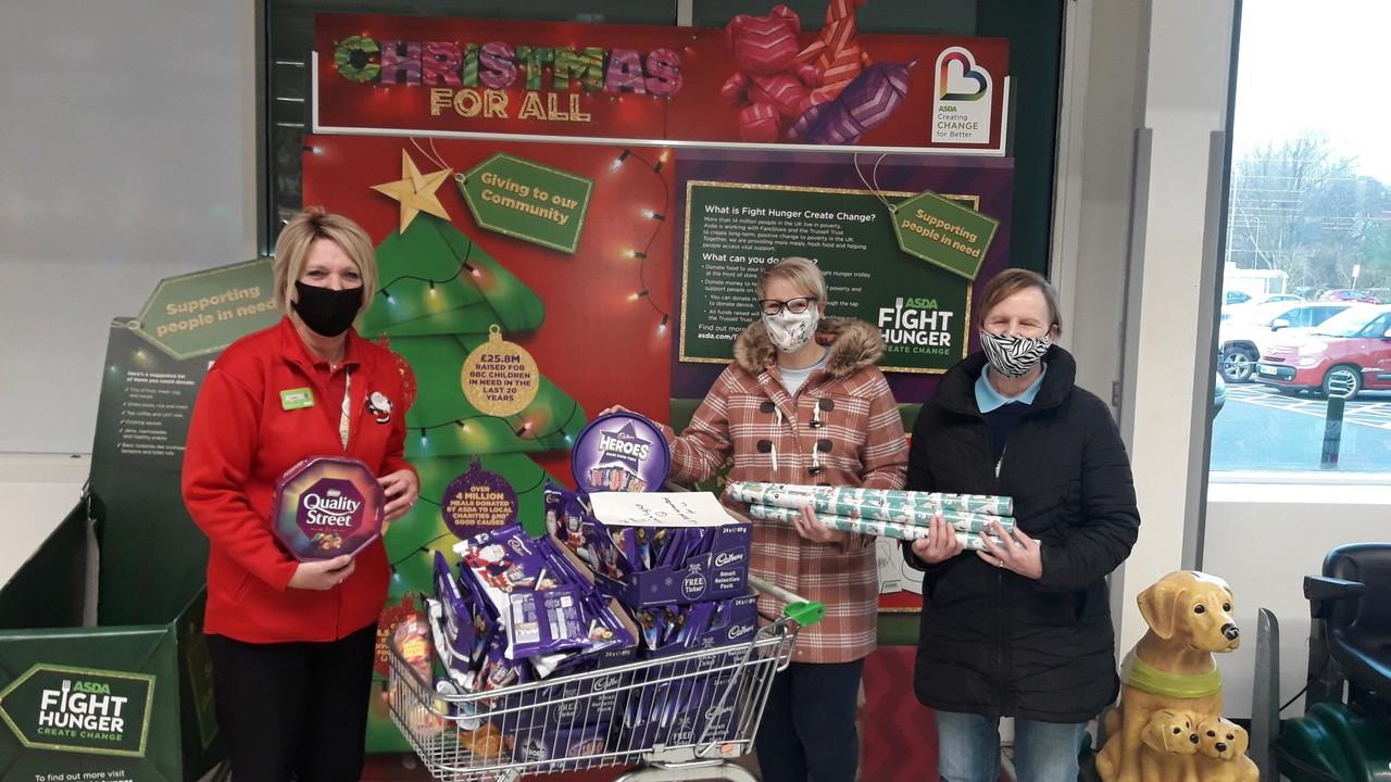 Christmas goodies for Shine a Light | Asda Coventry