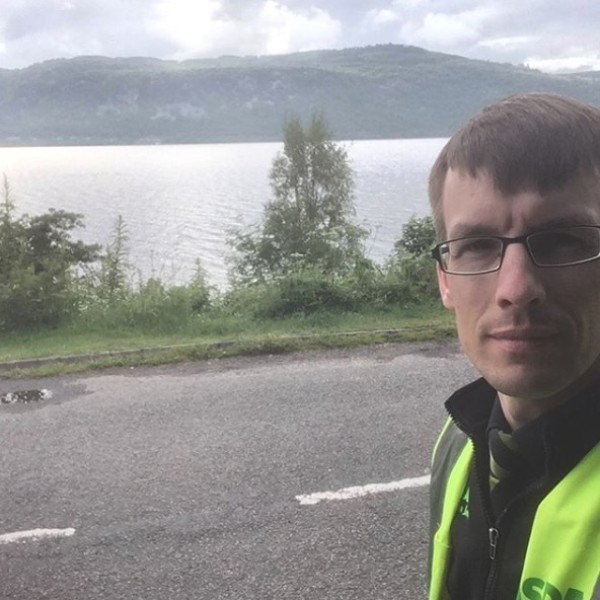 Home Shopping colleague Ash from Asda Inverness by Loch Ness