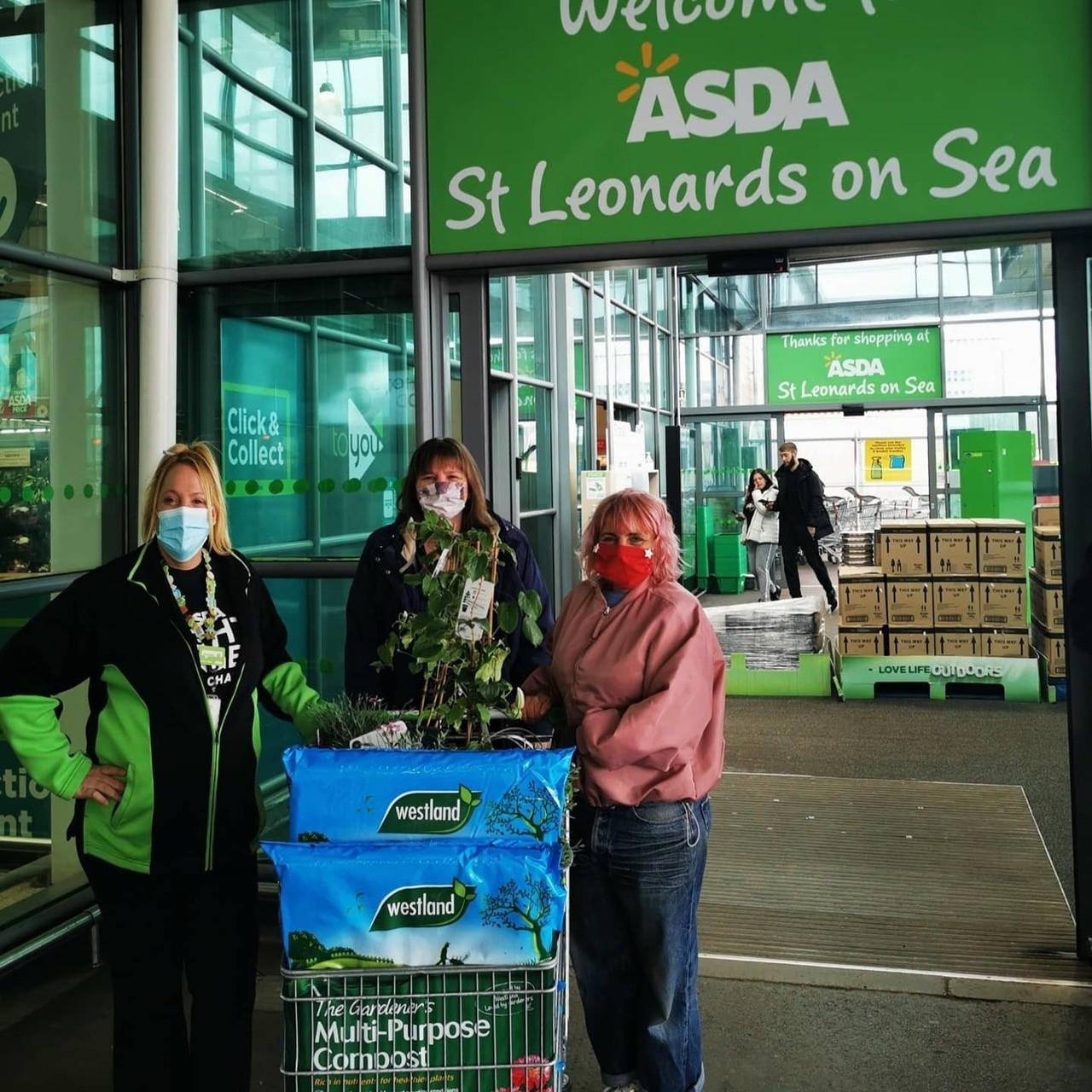 Donating Plants and soil to the Art Shack | Asda St Leonards on Sea
