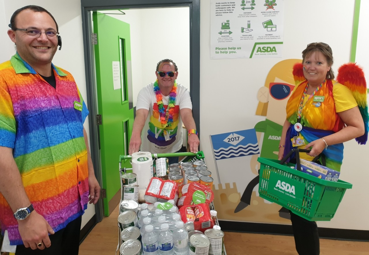 Colleagues foodbank donations | Asda Newport Isle of Wight