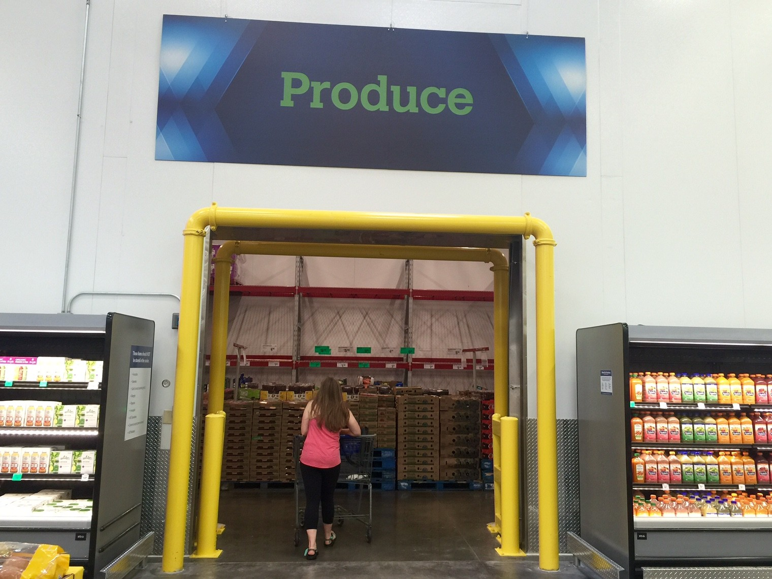 Walk in Cooler at Bentonville Sam's Club