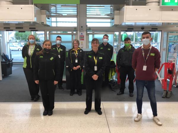 Team at Asda Ballyclare helped customers after flash floods