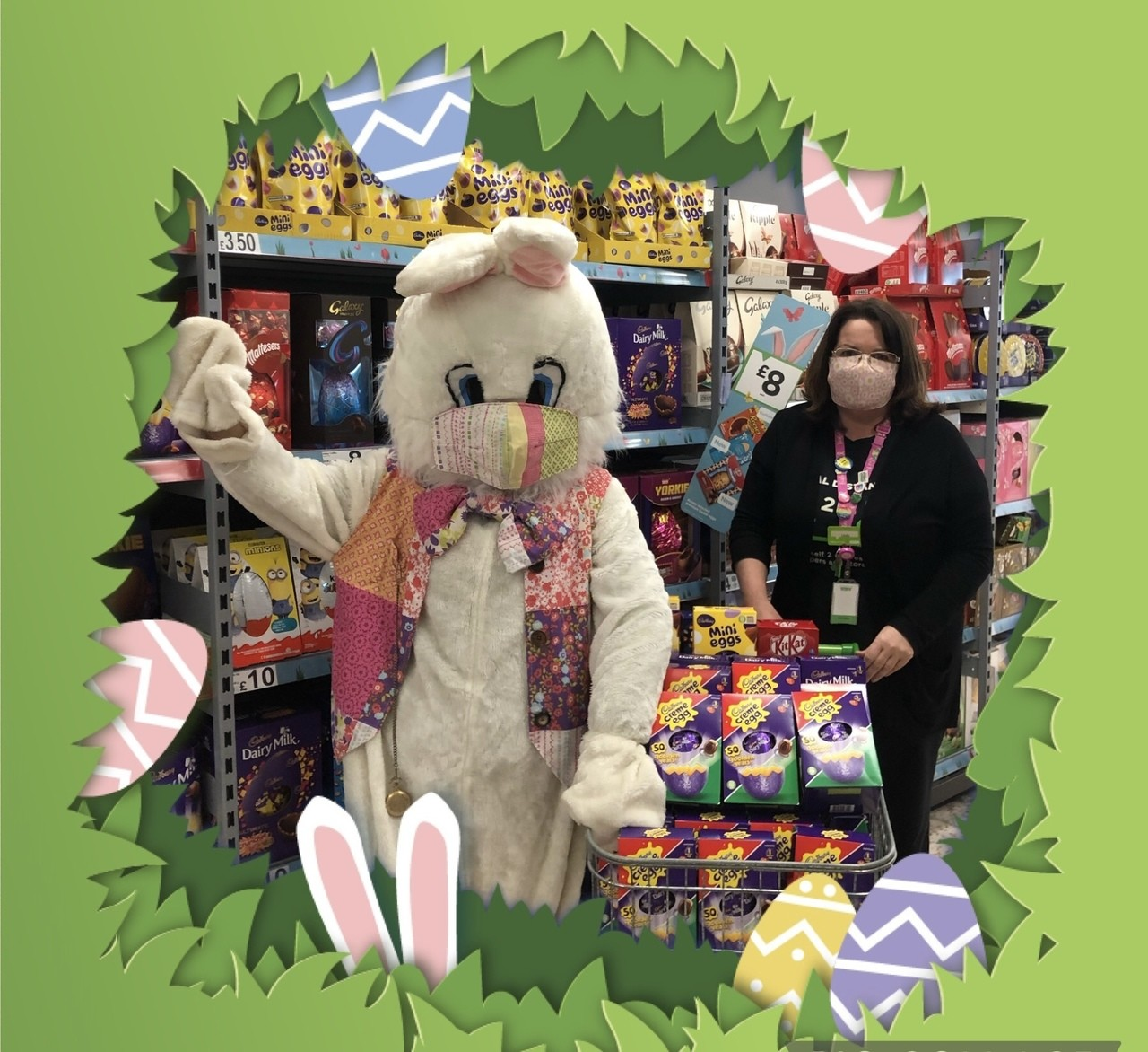 Easter Bunny fundraising | Asda Downpatrick