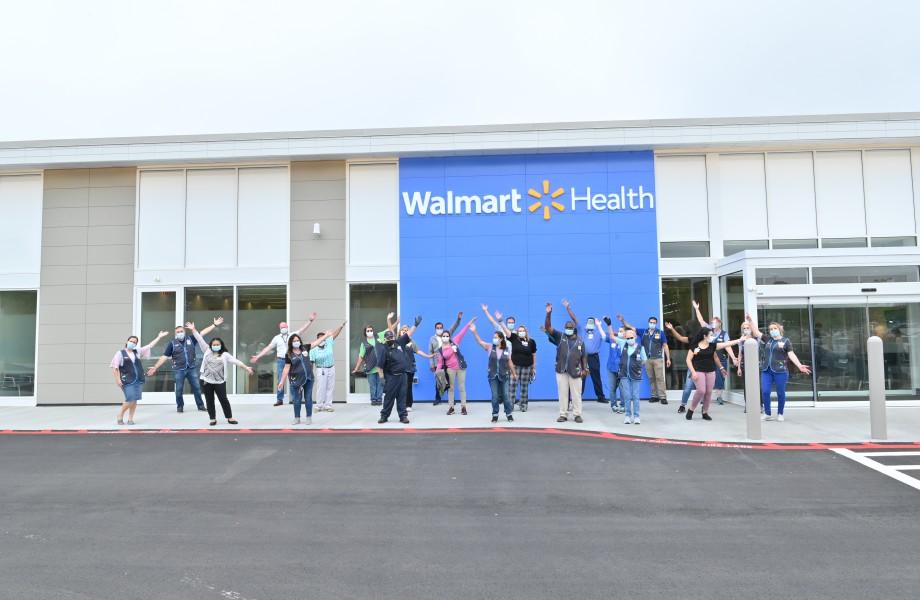 Walmart Health Loganville Team Social Distance