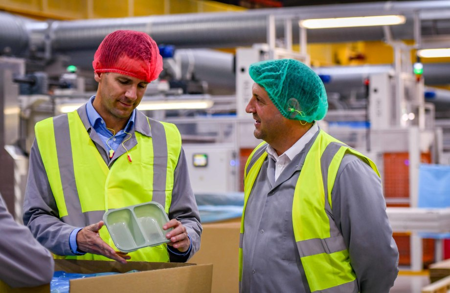 Asda colleagues visit the cPET factory