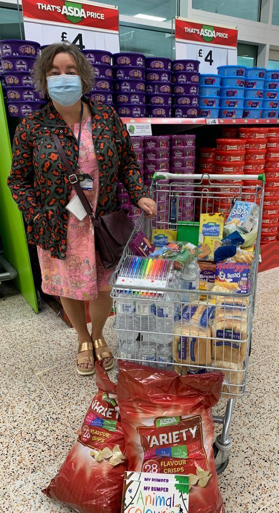 Donation of breakfast items to St Andrews Primary School | Asda Dundee Kirkton