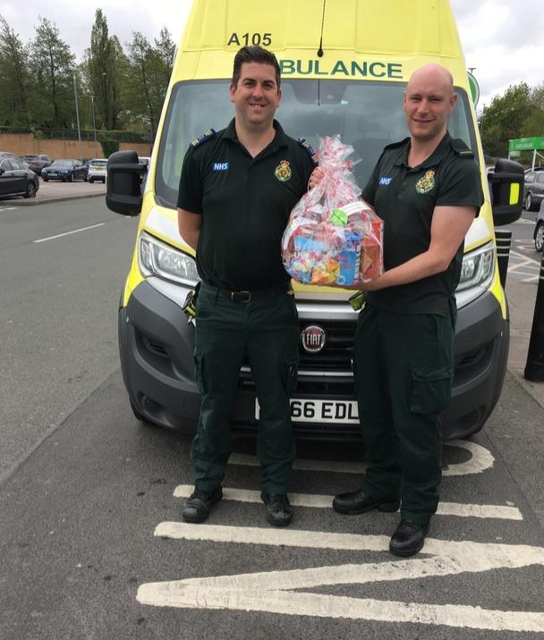 Donation to paramedics 💙 | Asda Clayton Green