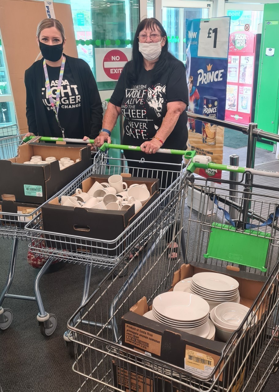 Donation to local soup kitchen   Asda Fleetwood