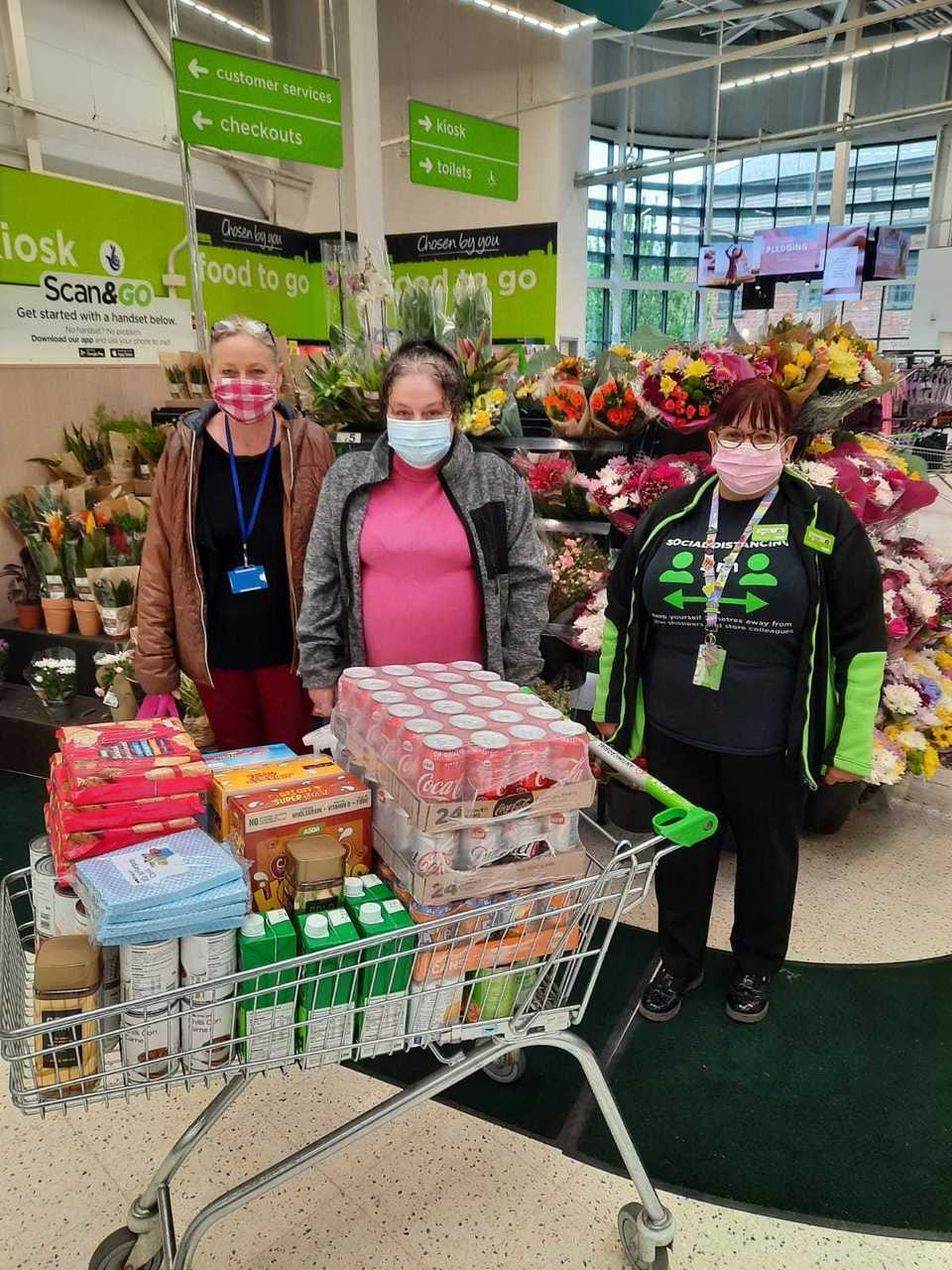 Food donation   Asda Worcester