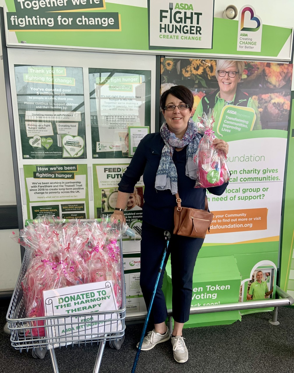 Pamper Hampers for The Harmony Therapy Trust | Asda Sittingbourne