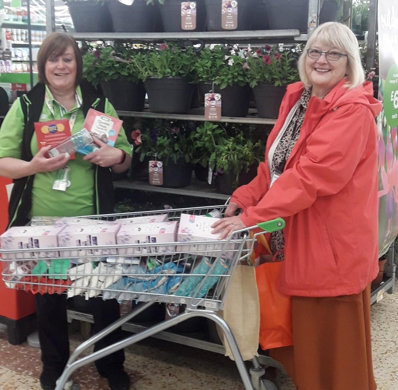 Cramlington Foodbank donation | Asda Cramlington