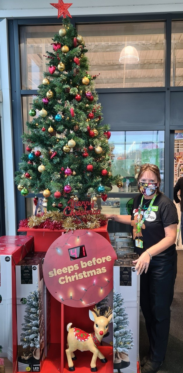 Our store's Christmas tree is up | Asda Newport Isle of Wight