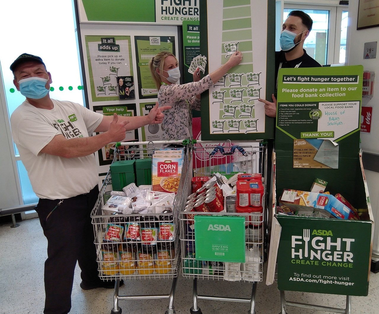 Food bank collection drive at Asda Stafford | Asda Stafford