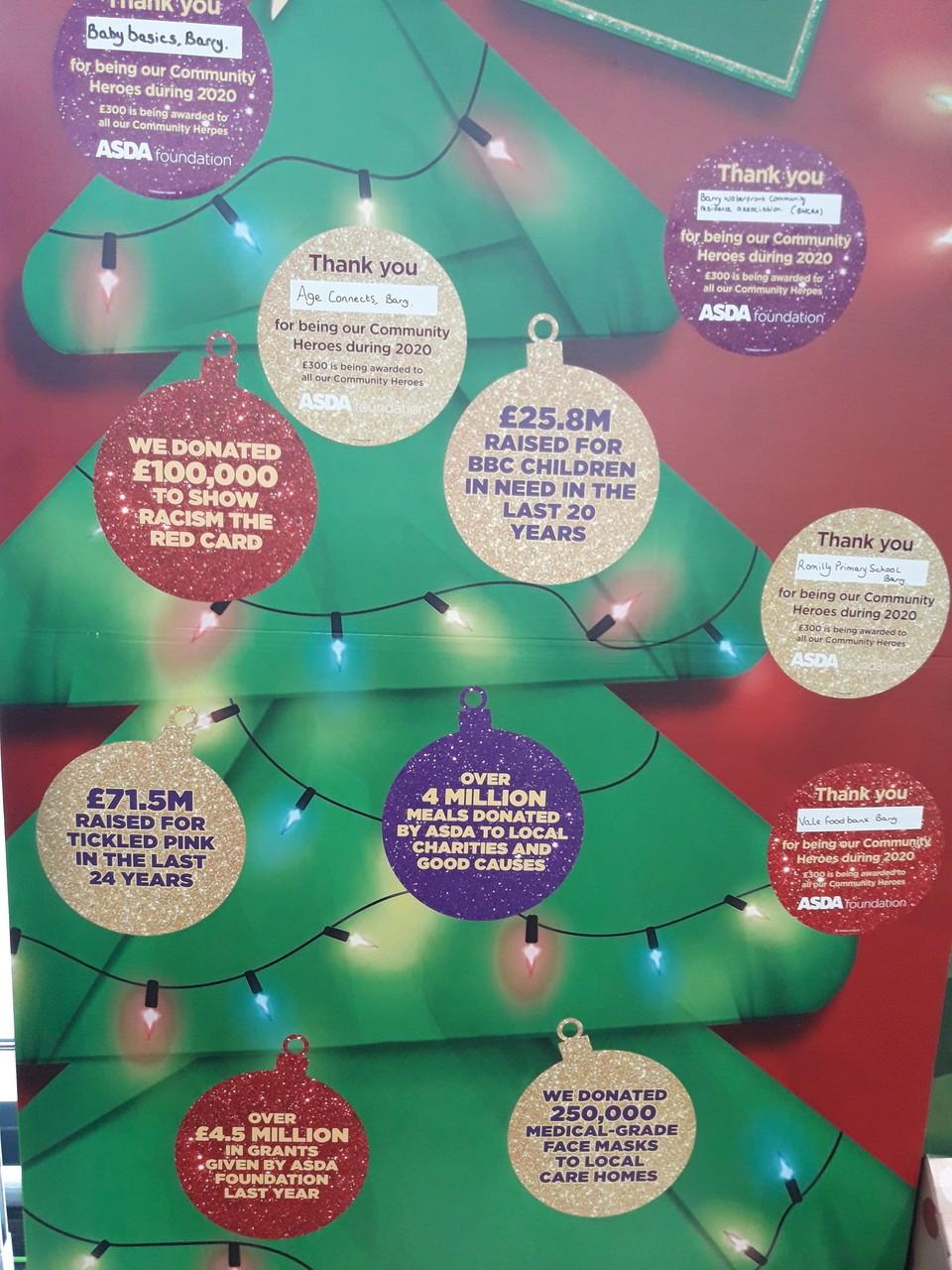 Christmas giving. | Asda Barry