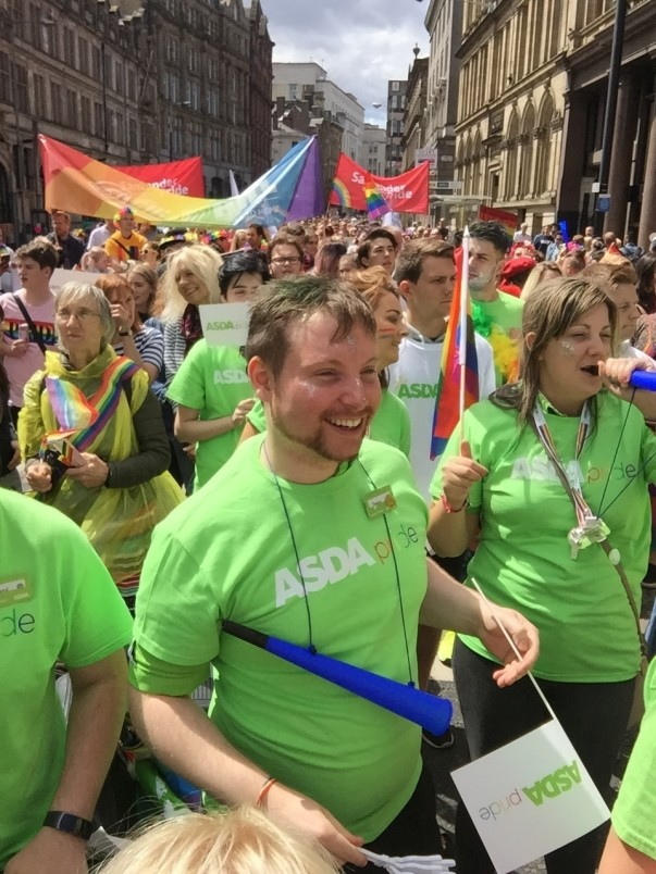Asda colleagues support Liverpool Pride