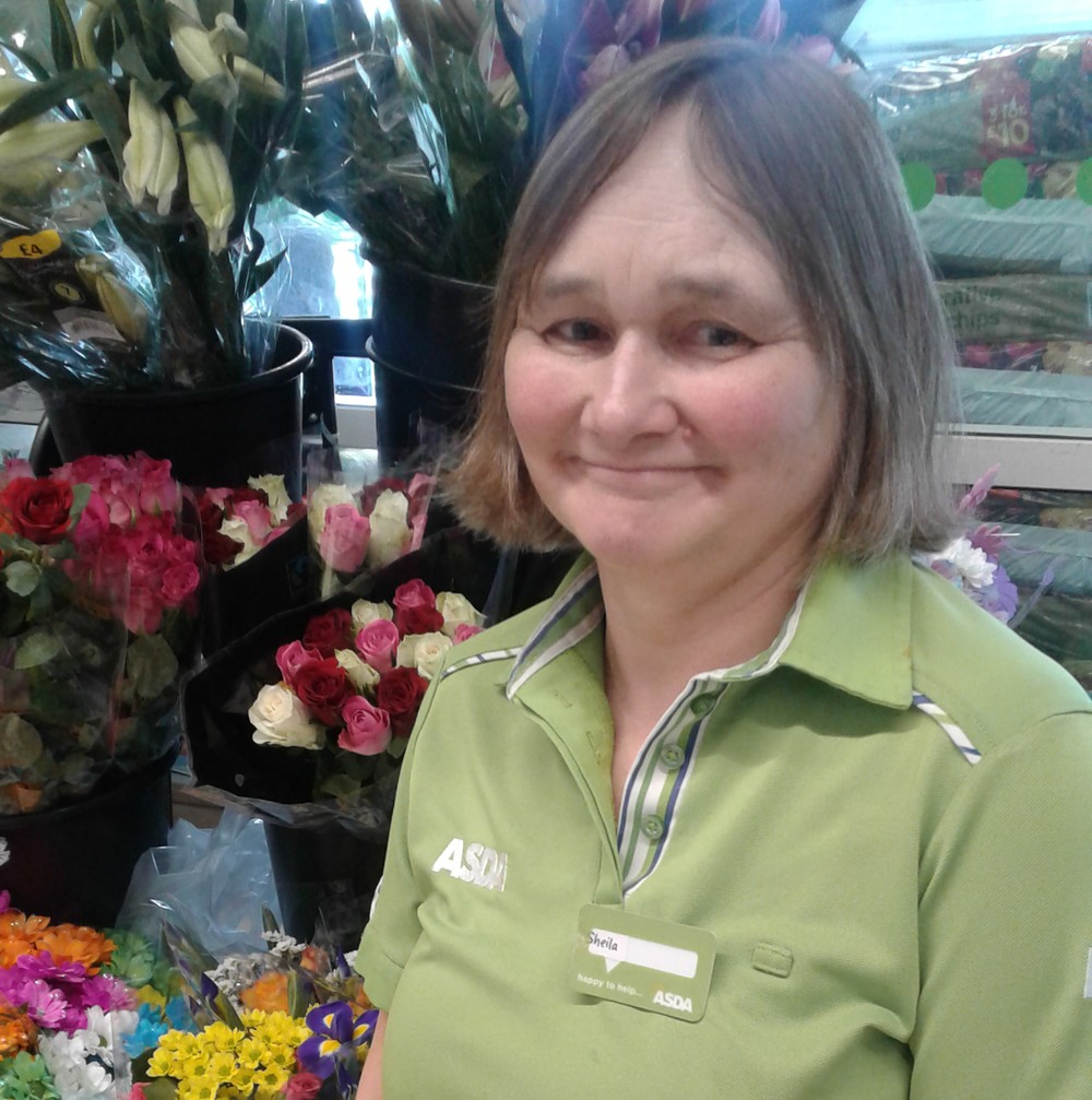Asda Castlepoint colleague Sheila Day who's worked at the store for 45 years