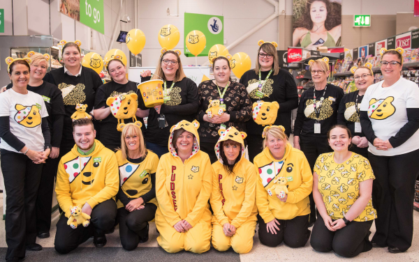 BBC Children in Need at Asda Larne
