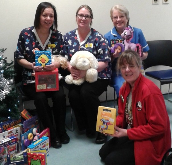 Asda Chatham community champion Leonie donating toys to Medway Hospital