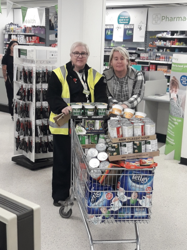 Doncaster Asda donates goods to help victims of flooding