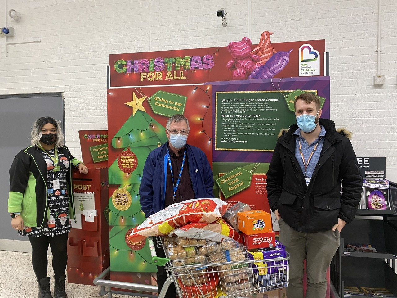 Festive donation | Asda Chelmsford