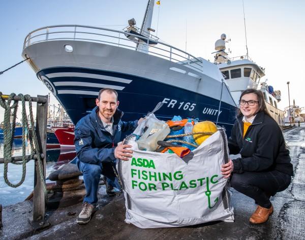 Asda Fishing Fir Plastic initiative