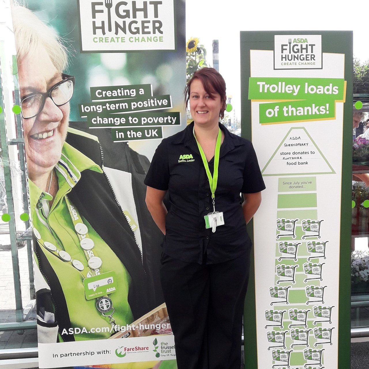 Thank you for supporting Flintshire Foodbank | Asda Queensferry
