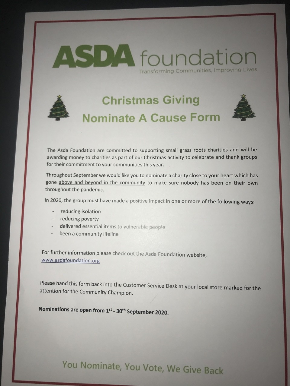 Christmas giving | Asda Robroyston
