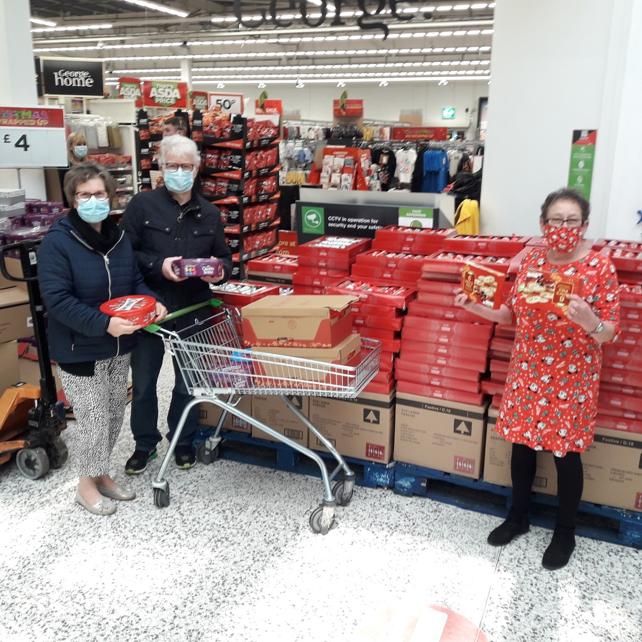 We donated boxes of Mince Pies and tins of sweets to be given in a xmas gift to all the senior members of Beckminster Church  | Asda Wolverhampton