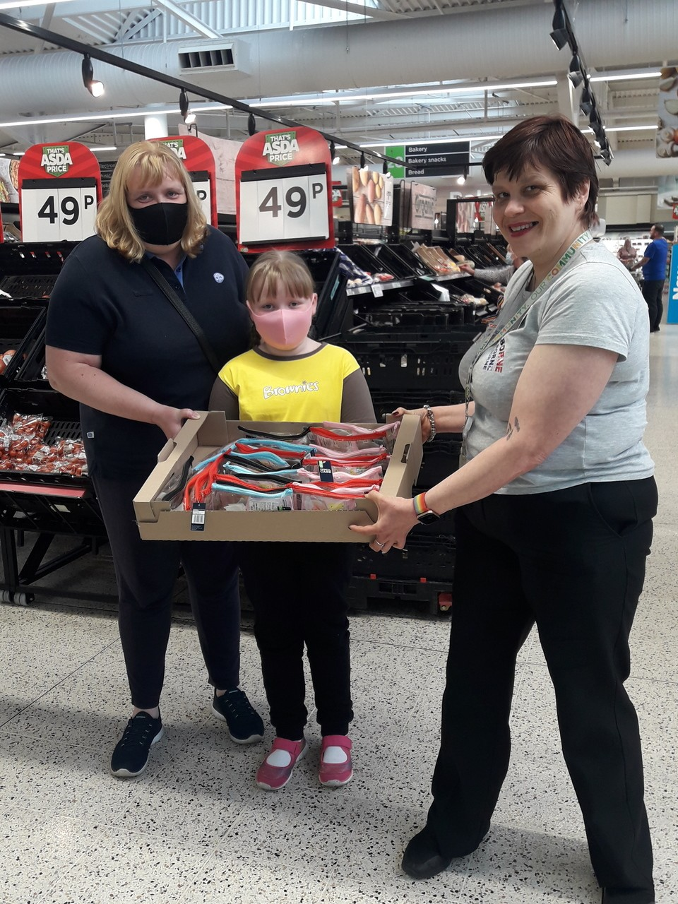 Donation to 2nd Lowton Brownies  | Asda Golborne
