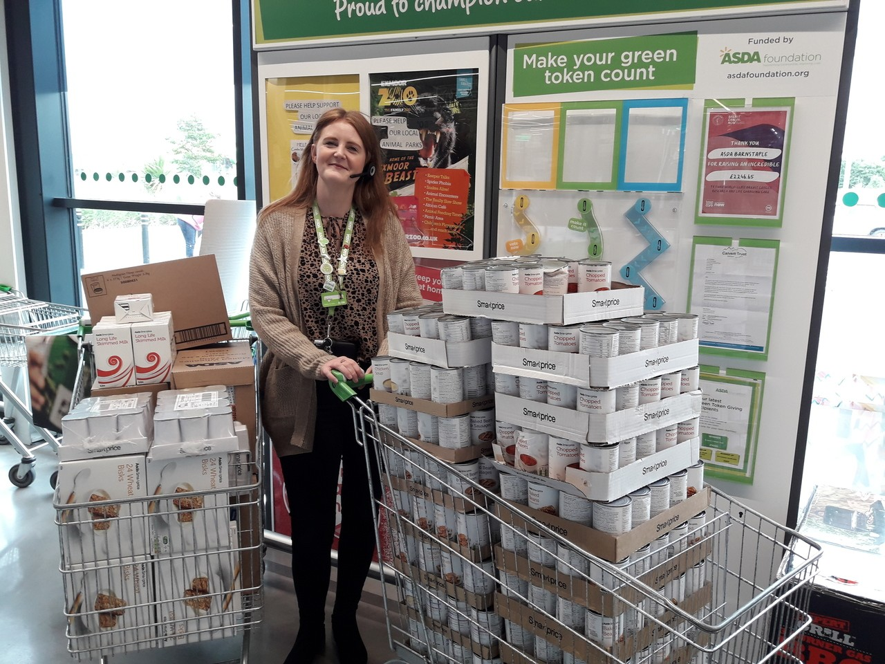Northern Devon Foodbank donation | Asda Barnstaple