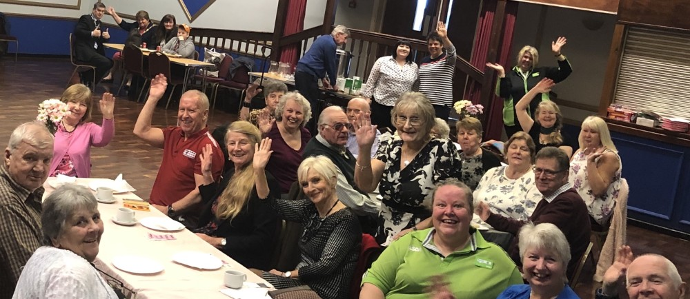 Asda community champions and guests at the tea dance