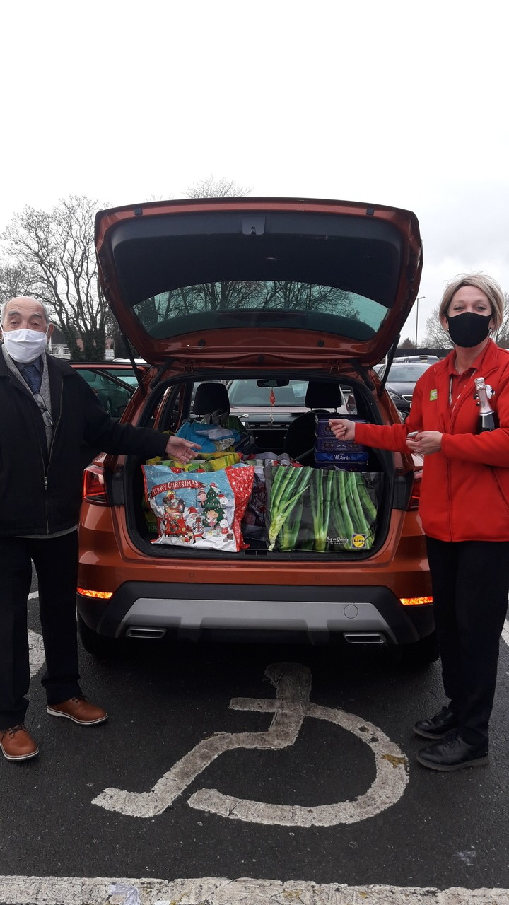 St John Divine Church Christmas donation for food parcels, for the vulnerable local community | Asda Coventry