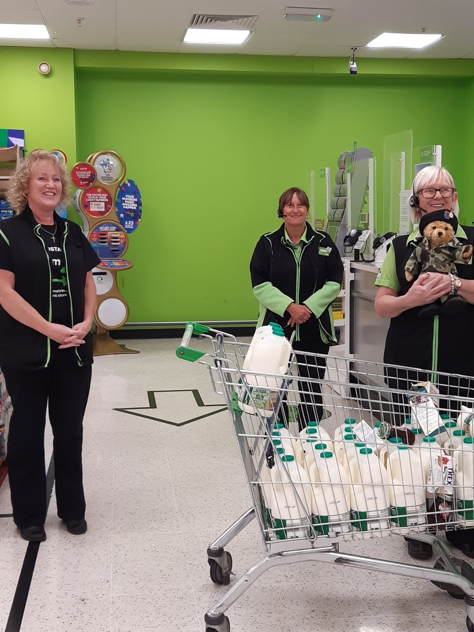 Trafford veterans weekly food parcel shop. | Asda Trafford Park