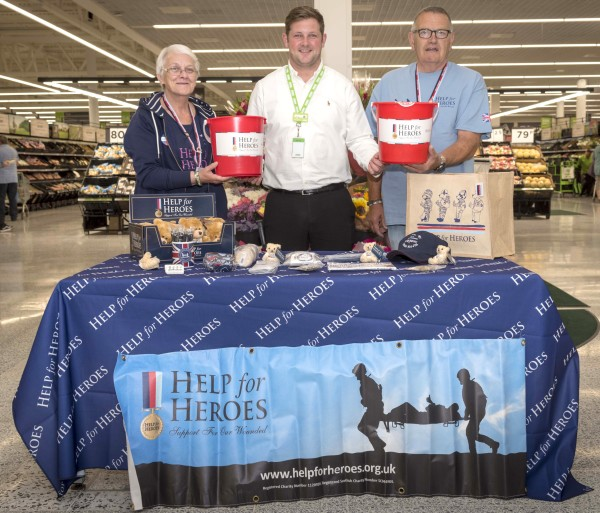 Army veteran Sash Hill welcomes Help for Heroes fundraisers to Asda Fulwood