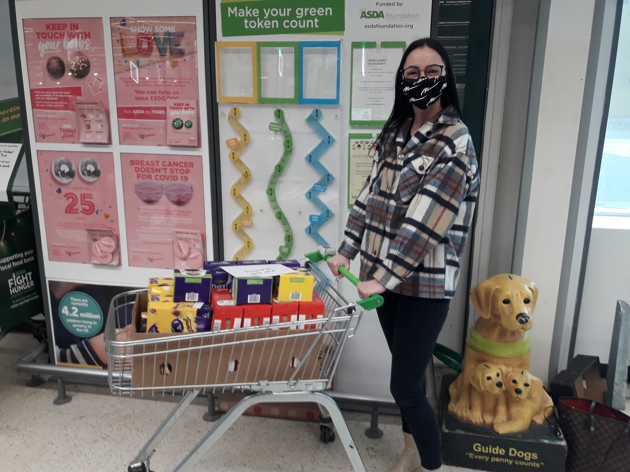 Easter eggs donated to UK Fostering Care to put a smile on the little ones faces 😘 | Asda Coventry