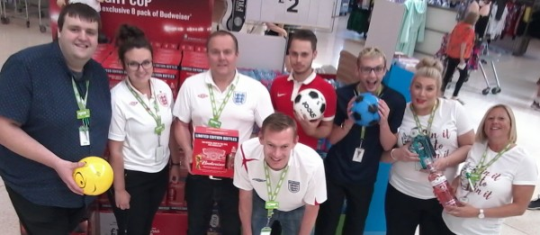 Asda Worcester colleagues supporting England