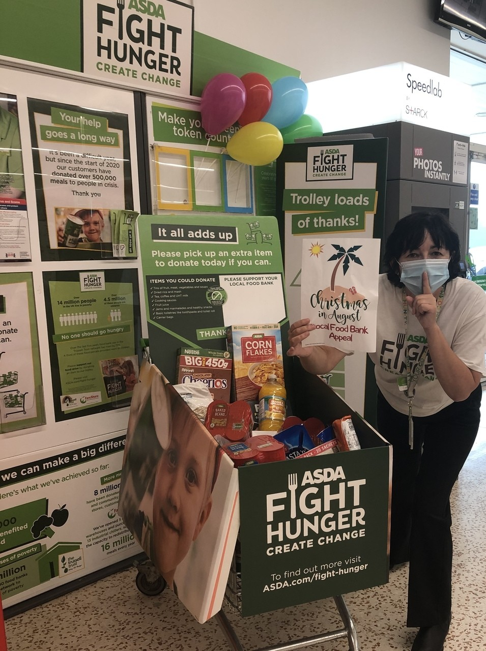 Christmas In August Fight Hunger food drive | Asda Cookstown