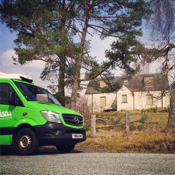 Asda delivery to youth hostel at Glencoe