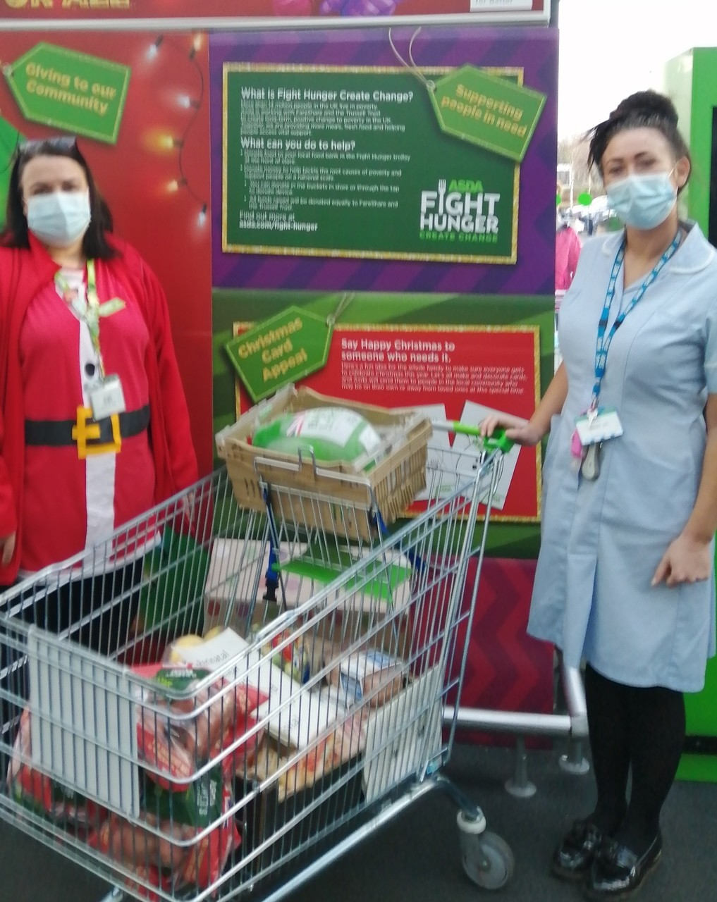 Christmas Dinner donation off to the perinatal Mental Health mother and baby unit at Chorley Hospital. | Asda Clayton Green