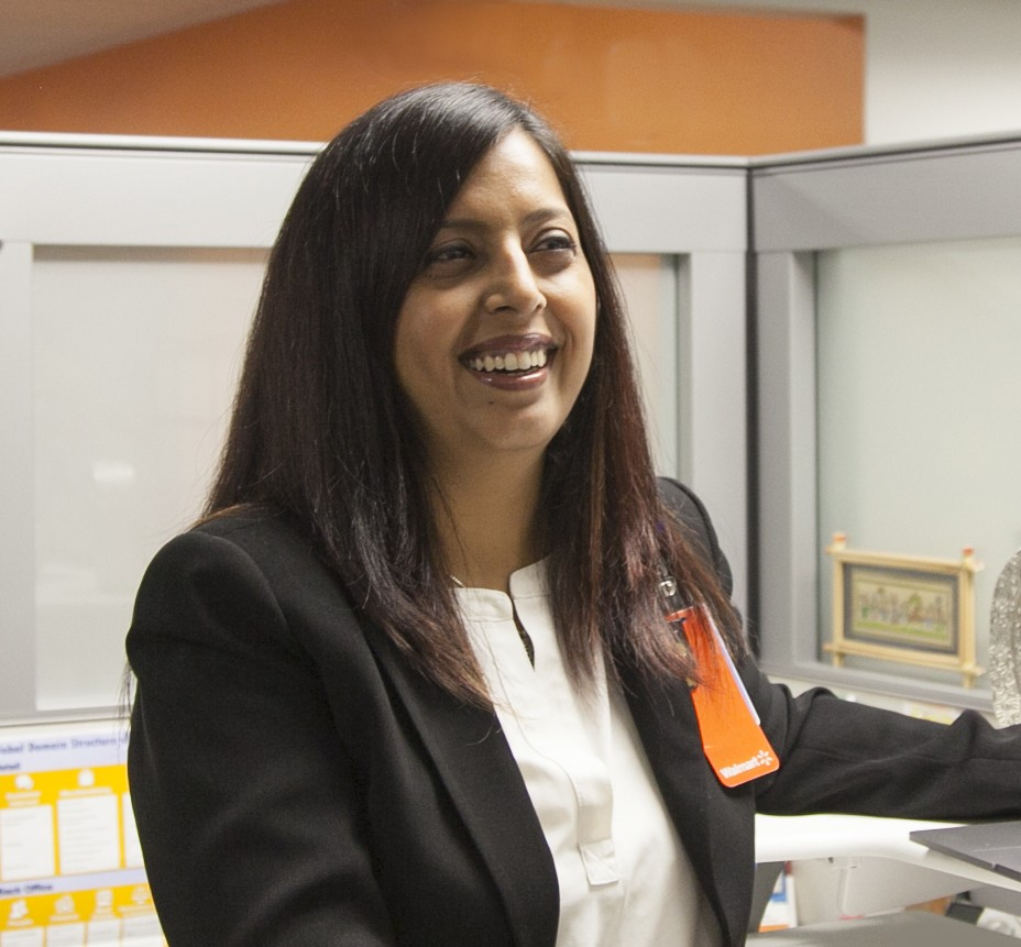 Walmart associate Archana Sristy in Walmart home office