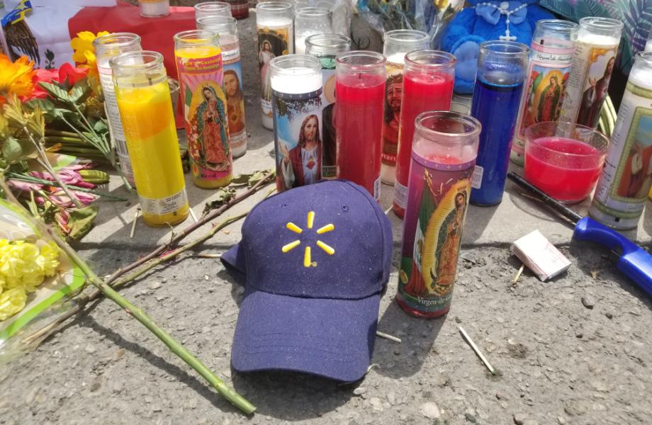 El Paso Memorial with Walmart Hat