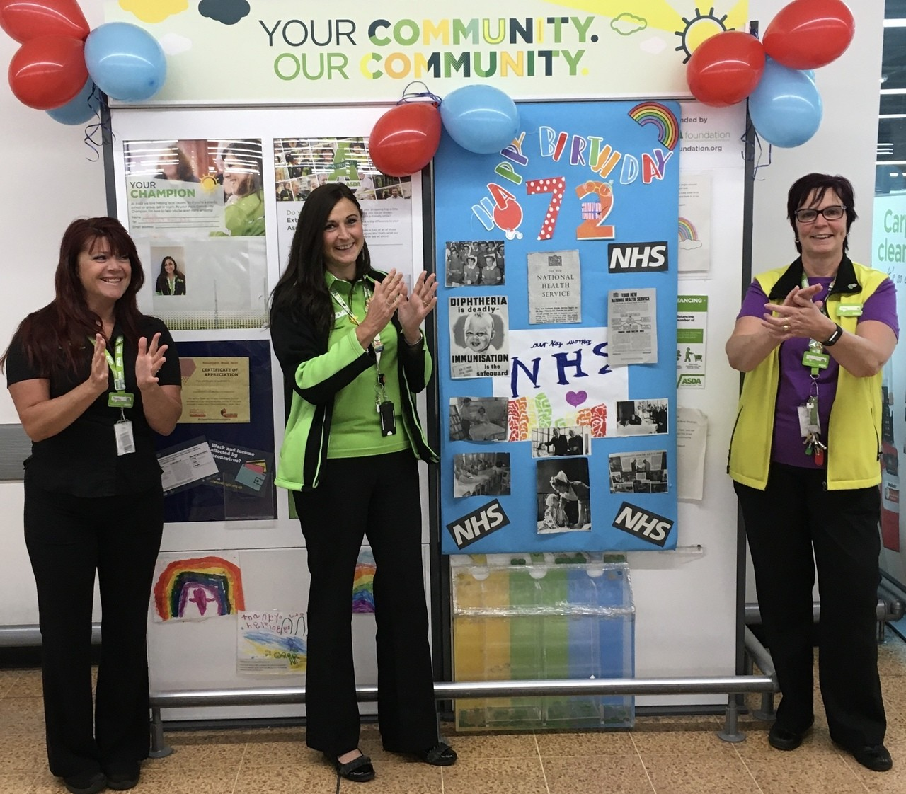 Happy 72nd Birthday to our beloved NHS From everyone at ASDA Longwell Green . | Asda Longwell Green