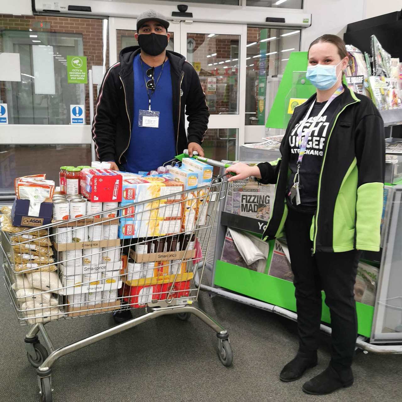 Donation of essential foods and toiletries to Freshstart Smart | Asda Wythenshawe