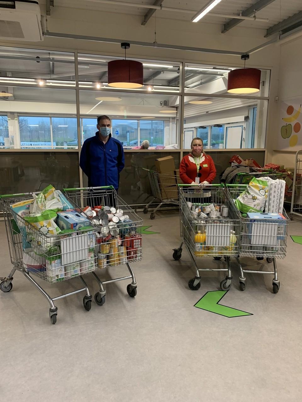 OneSubsea donate to Leeds Foodbank and Baby Bank | Asda Middleton