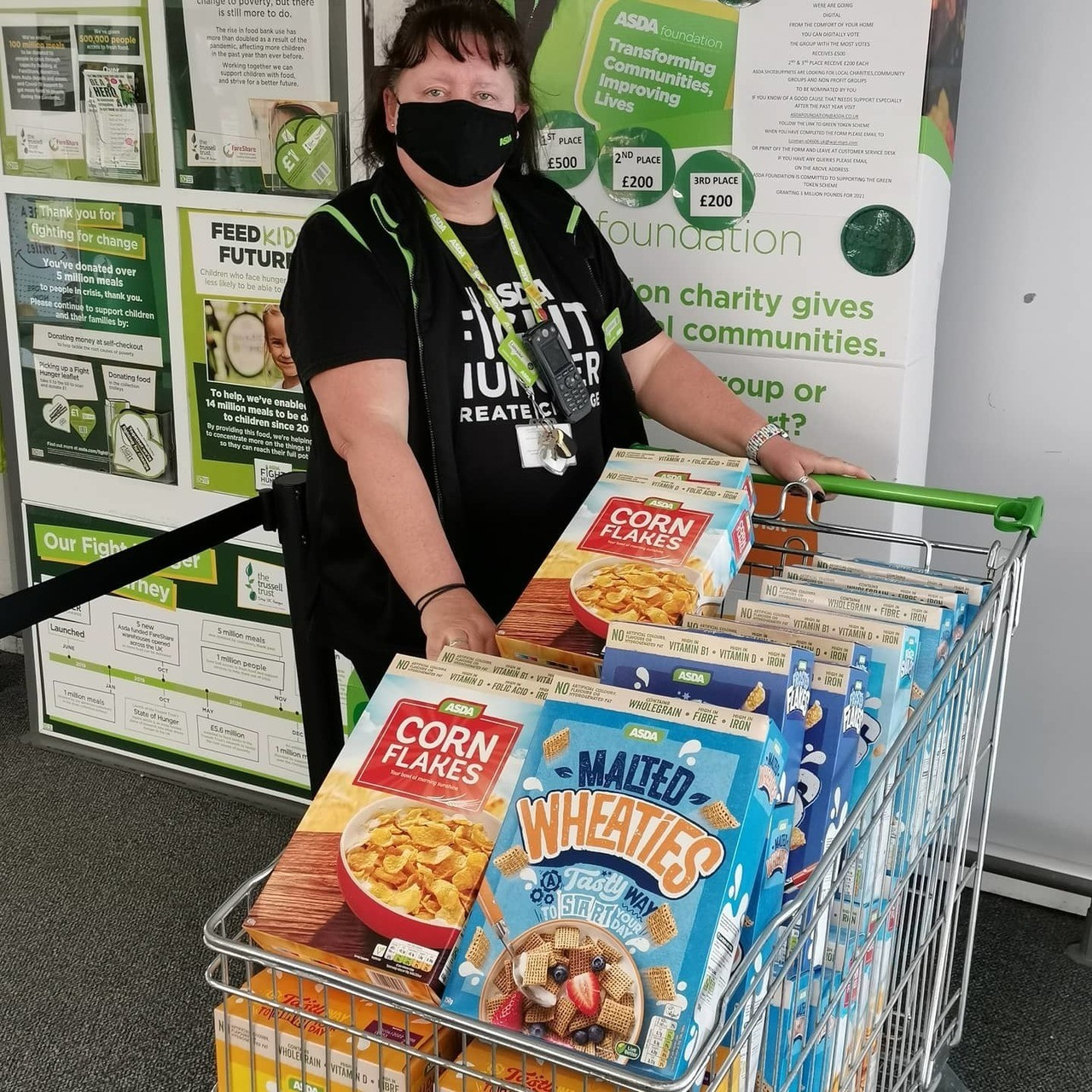 Breakfast donations for families   Asda Shoebury
