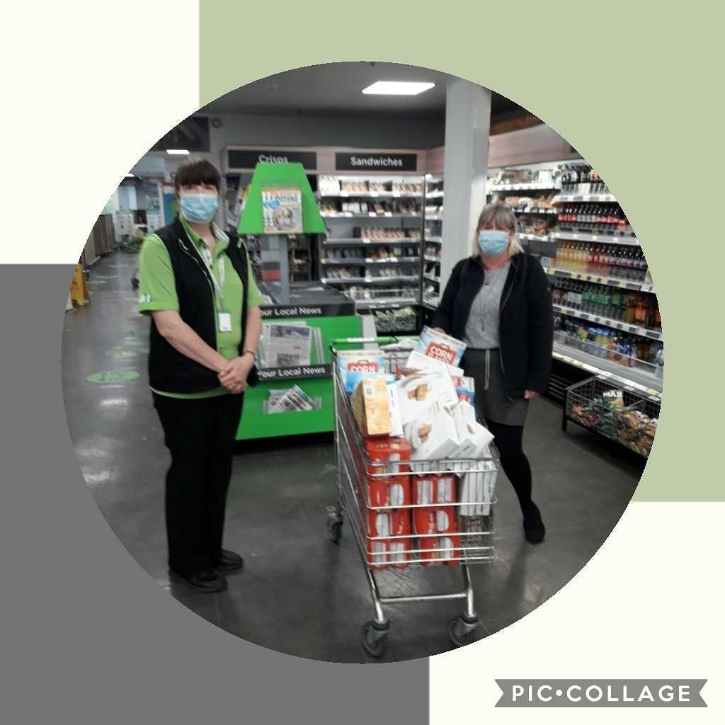 Donation to colne open door project for their foodbank | Asda Colne