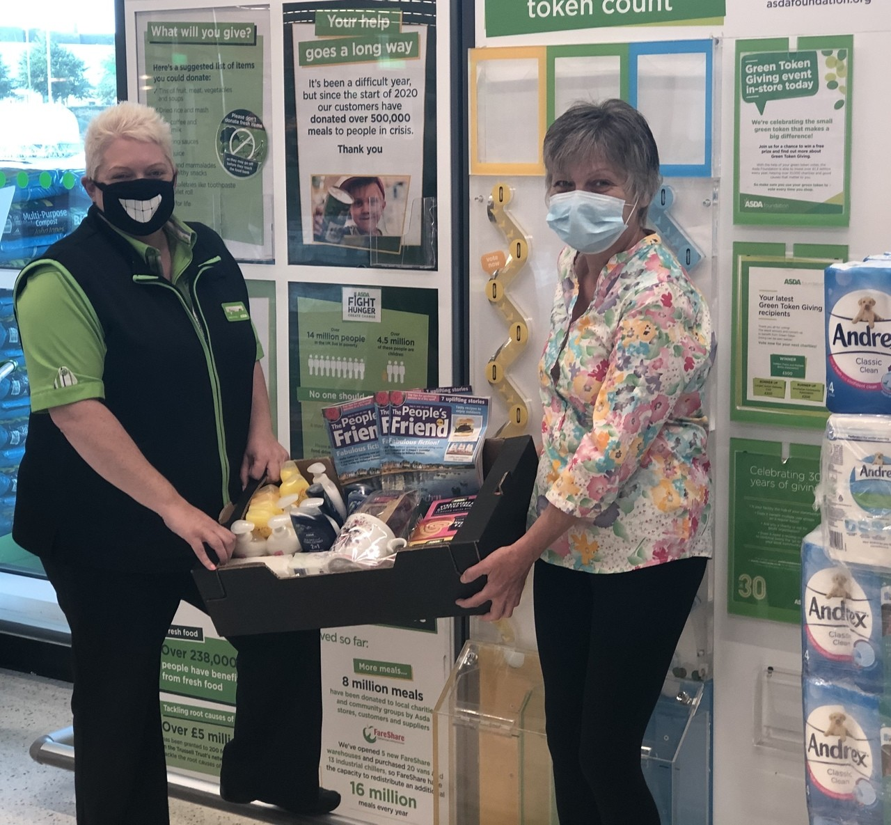 Treat box for the residents of Quarry Gardens  | Asda Portadown