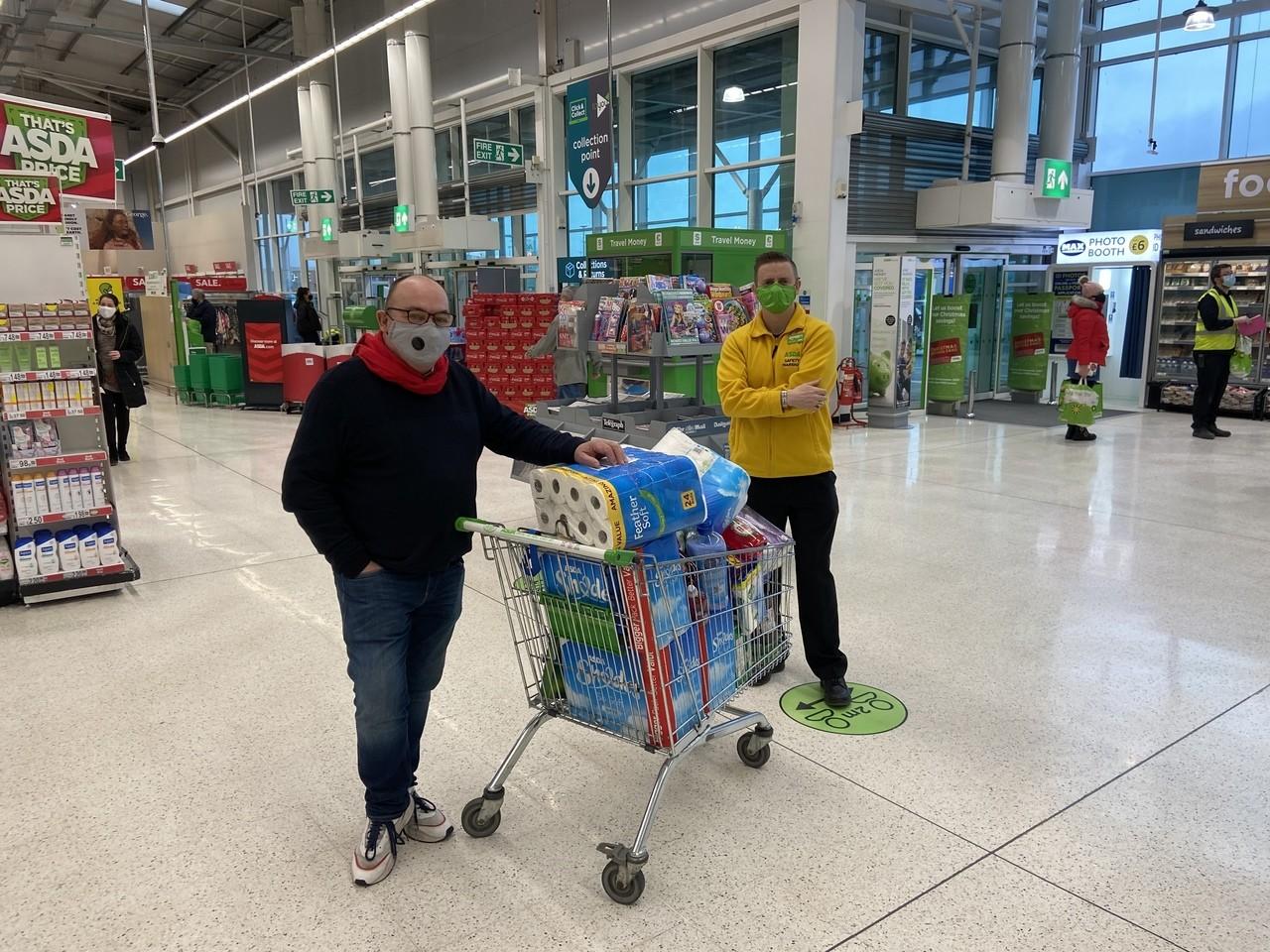 Food donation to Cancer Connect NI | Asda Enniskillen