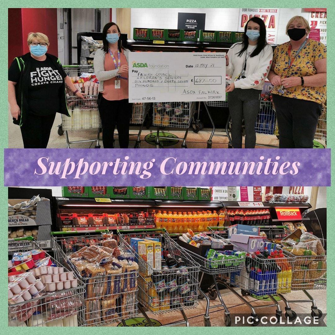 Supporting Communities grant | Asda Falkirk